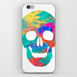 Paint Skull iPhone Skin
