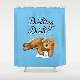 Doodling Doodle (Blue) Shower Curtain
