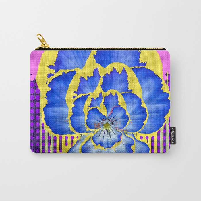 Abstract Blue Pansy Lavender-Purple Art Carry-All Pouch