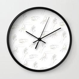 Hands By Maria Piedra Wall Clock