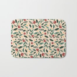 Holly Pattern Bath Mat