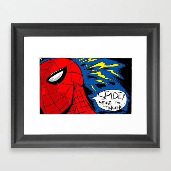 The Spidey Sense Framed Art Print