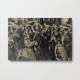 Group of Candombe Drummers at Carnival Parade of Uruguay Metal Print