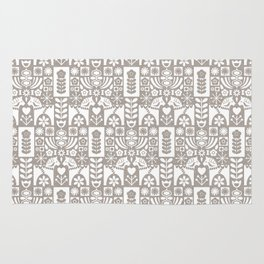 Swedish Folk Art - Warm Gray Rug