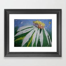 Single daisy Framed Art Print