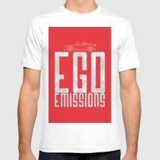 Tesla - Ego Emissions MEDIUM Mens Fitted Tee White