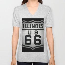 U.S. Route 66 Unisex V-Neck