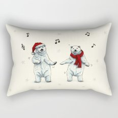 The polar bears wish you a Merry Christmas Rectangular Pillow