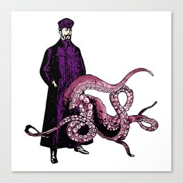 TROUSER TENTACLES OF DOOM! LINEART ILLUSTRATION Canvas Print