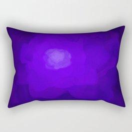 Glowing Blue Rose Emerging from  Darkness Rectangular Pillow