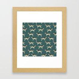 Tree Walker Coonhounds in Green Framed Art Print