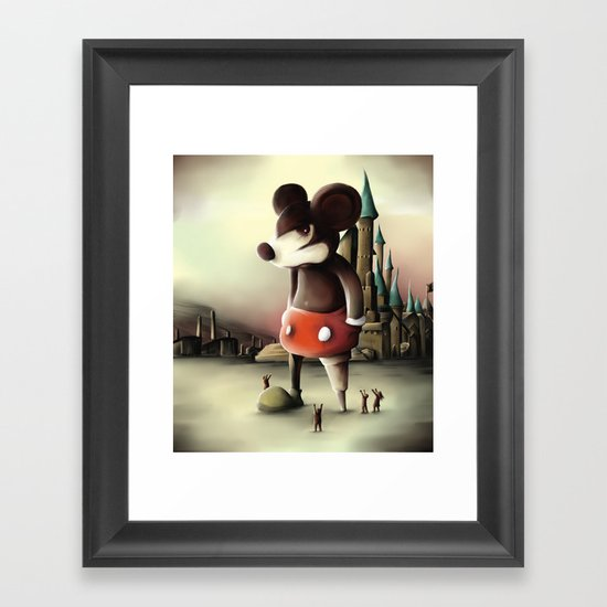 Mickey's Kingdom Framed Art Print