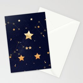 Galaxy of Stars Midnight Blue Stationery Cards