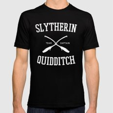 Hogwarts Quidditch Team: Slytherin Mens Fitted Tee MEDIUM Black
