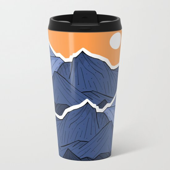 The mountains under the two suns Metal Travel Mug