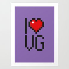 PAUSE – I Love Video Games Art Print