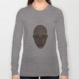 brown visage Long Sleeve T-shirt