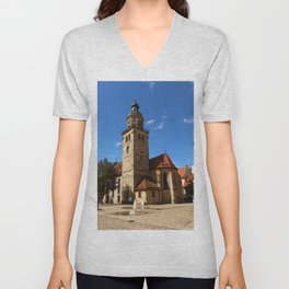 A Village Church In Franconia Unisex V-Neck