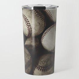 Grungy Baseballs on a Shelf Travel Mug