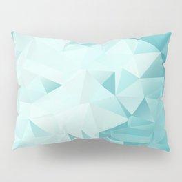 "Polygon Geometric Abstract Design ""Key West"" -Aqua, Turquoise Pillow Sham"