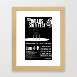 Dallas Solo Fest 2015 Poster Framed Art Print
