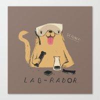 lab Canvas Prints featuring lab-rador by Louis Roskosch