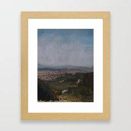 Firenze via Settignano Framed Art Print