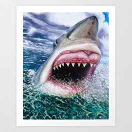 White Shark in Africa Art Print