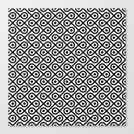 Geometric Pattern #197 (dots loops black) Canvas Print