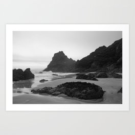 Mist Rolling in at Kynance Cove Art Print