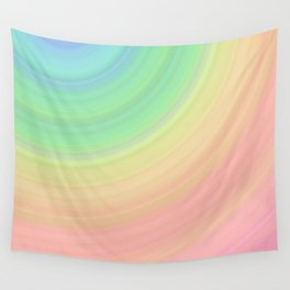 Abstract Pastel Rainbow I Cute abstract circles, gradient pattern Wall Tapestry