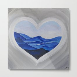 My Blue Heart Metal Print