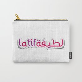 Latifa لطيفة | Arabic Name - Arabic Style Carry-All Pouch
