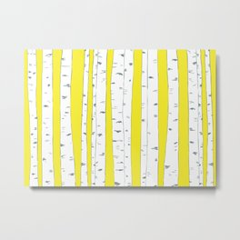 Aspen Forest - Yellow Metal Print
