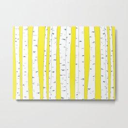 Aspen Forest - Yellow Metal Print
