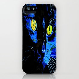 Marley The Cat Portrait With Striking Yellow Eyes iPhone Case