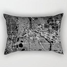 Minneapolis Black Map Rectangular Pillow