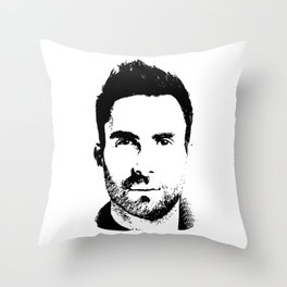 Adam Levine (silhouette) Throw Pillow