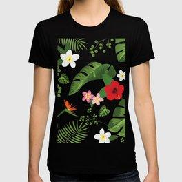 Tropical Flower Background T-shirt