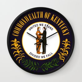 State of Kentucky seal Wall Clock