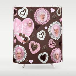 LUCYS CHOCOLATE FACTORY Shower Curtain