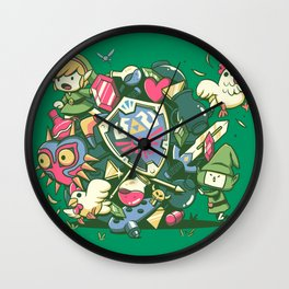 Let's Roll Link Wall Clock