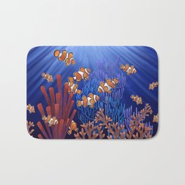 Clown Fish tank Bath Mat