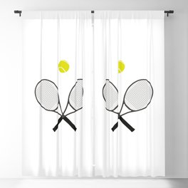 Tennis Racket And Ball 2 Blackout Curtain