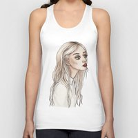 creepy Tank Tops featuring Creepy Chan by Helen Green