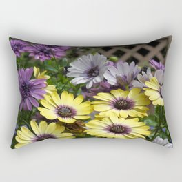Yellow and Purple African Daisies Rectangular Pillow