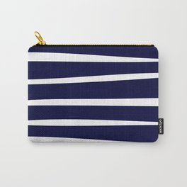 Blue- White- Stripe - Stripes - Marine - Maritime - Navy - Sea - Beach - Summer - Sailor 4 Carry-All Pouch