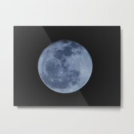 Blue Moon. Metal Print
