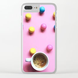 Bubble Gum Coffee Clear iPhone Case