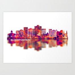 Bloemfontein South Africa Skyline Art Print